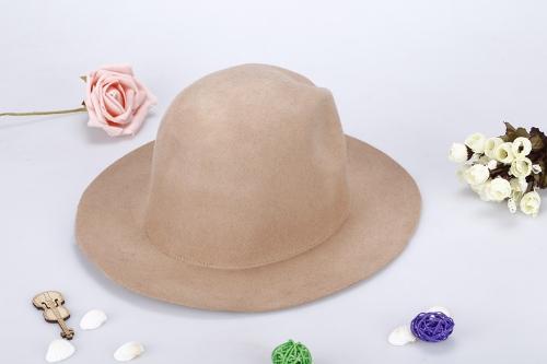 Moda Unisex lana Fedora sombrero Trilby casquillo de corona Alón Bowler Derby Headwear disquete cubo sombrero color caqui