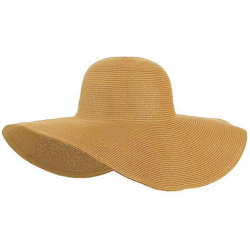 Moda linda mujer verano paja playa sombrero ala ancha grande plegable sombrero color caqui