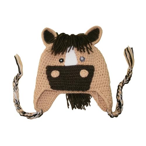 d277257875a Fashion Children Knitted Hat Cute Cartoon Horse Warm Winter Cap Kids  Headwear Brown multi Online Shopping