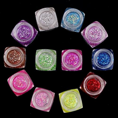 Лак для ногтей бутылки украшения, блестящие блестки 12