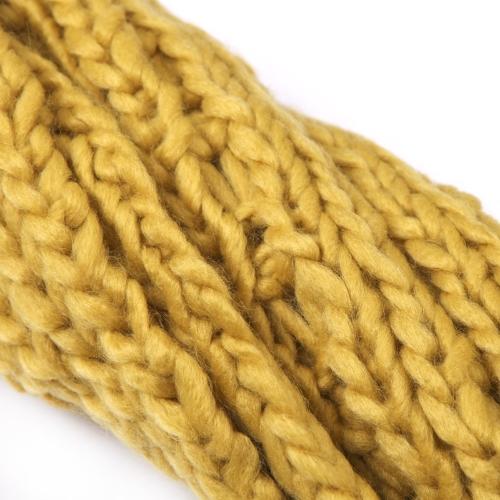 New Celebrity Style Women's lady Scarf Wool Knit Wrap Shawl Long Yellow