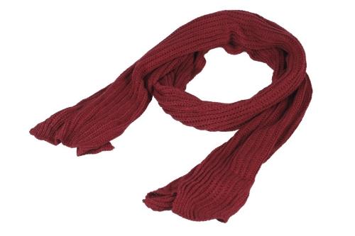 Hombres de las mujeres de moda coreana bufanda tejido sólido tiempo cálido abrigo Unisex chal Borgoña
