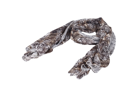 Nowe Kolorowe Kobiety Chiffon Scarf Leopard Grochy Oznacz Tiger Print Długi Szal Wrap pashmina