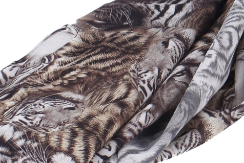 Image of Neue bunte Frauen, die lange Chiffon-Schal Leopard Polkadot Flagge Tiger Drucken Schal Wrap Pashmina