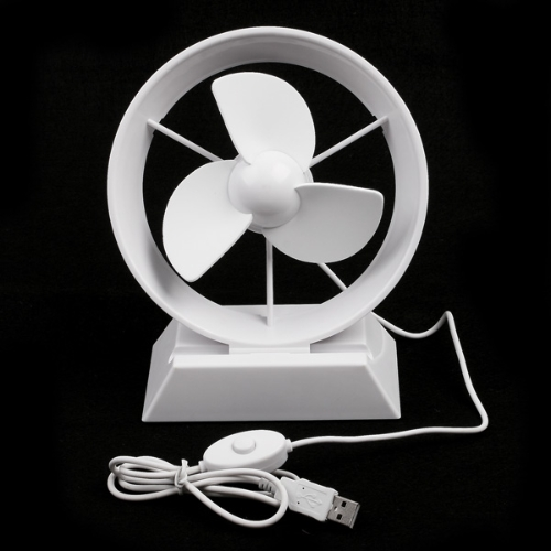 Mini Portable Super Mute USB Cooler Cooling Desk Fan for Laptop PC White