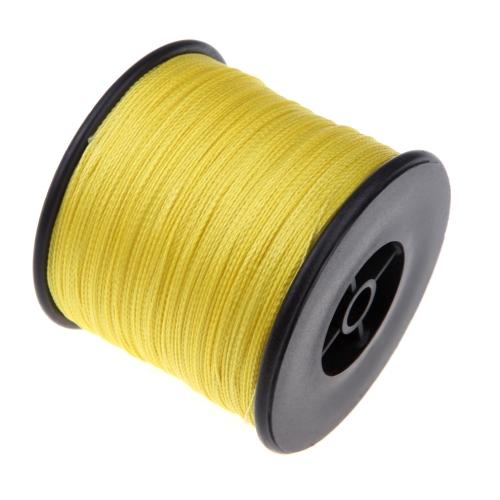 500 M 100LB 0,5 mm Super Strong trecciati pesca linea 4 fili giallo