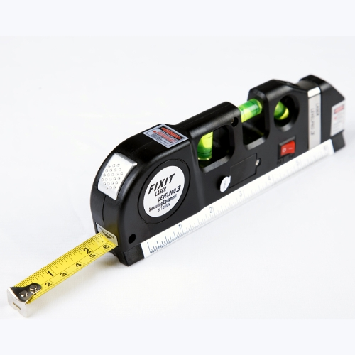 Multipurpose Laser Level Horizon Vertical Measure Tape Aligner 8FT