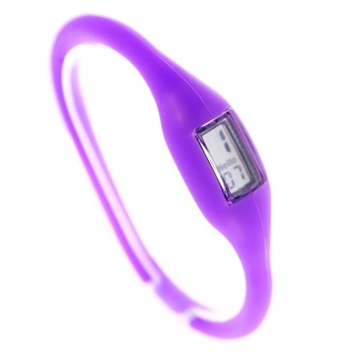 Dark Blue Silicone Rubber Anion Bracelet Wrist Watch