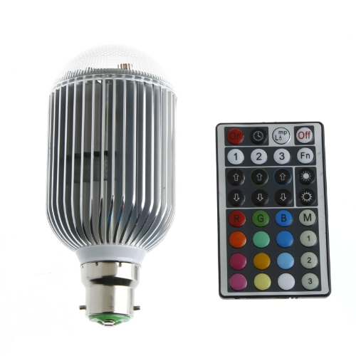 Colorful  LED RGB 10W B22 Light Bulb
