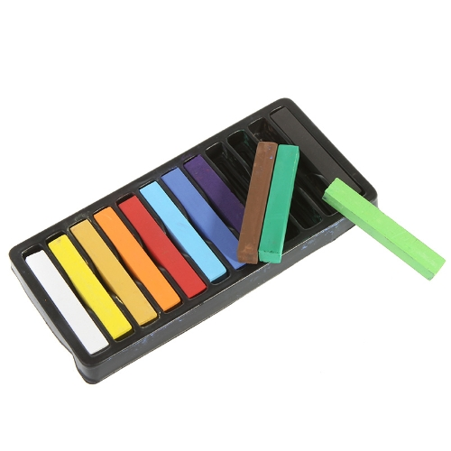 12 Color High Quality Hair Chalk Non-toxic Temporary Salon Kit Pastel With Box