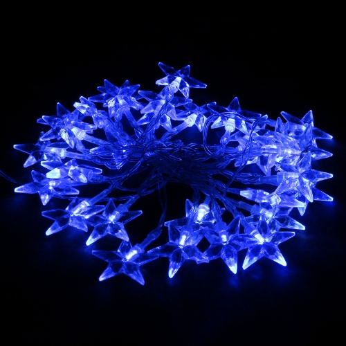 40LED 4M Blau Stern Weihnachten/Hochzeit/Party Dekoration Lichterkette