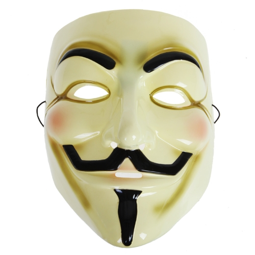 V for Vendetta Mask for Halloween Yellow
