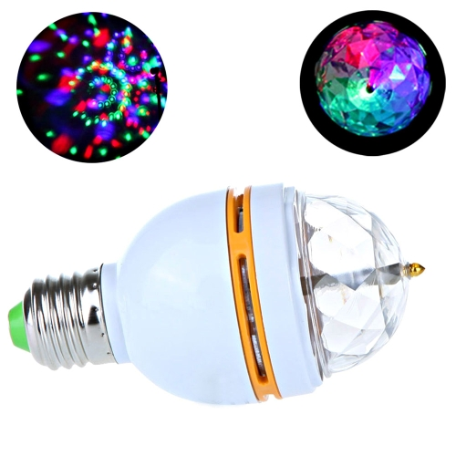 3W E27 Mini Colorful LED Rotating Stage Light Lamp