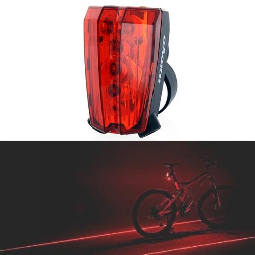 5 LED 自転車後部ライト レーザー テールライト