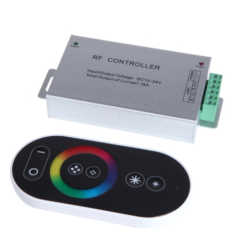 DC 12-24V Wireless RF Touch Panel LED RGB Dimmer Remote Controller