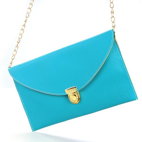Fashion Lady naiste ümbrik sidur kett rahakott käekott õlal tassima Messenger kott mere-roheline