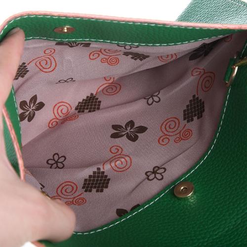 Fashion Lady naiste ümbrik sidur kett rahakott käekott õlal tassima Messenger kott roheline