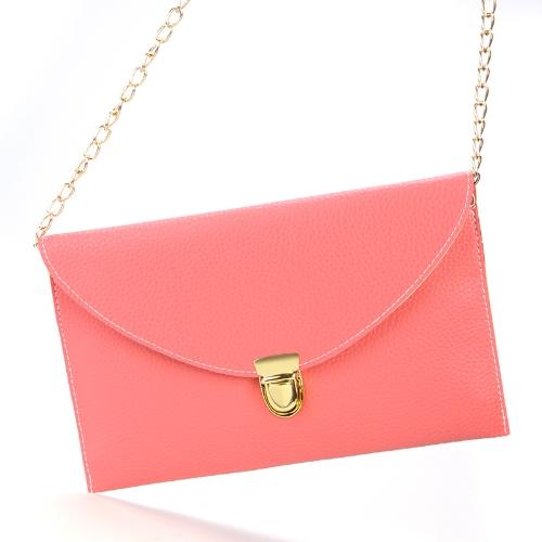 Fashion Lady naiste ümbrik sidur kett rahakott käekott õlal tassima Messenger kott arbuus punane