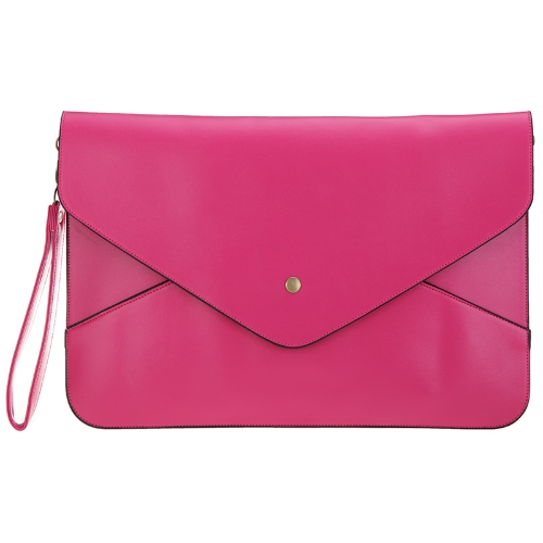 Dama de la moda mujeres envolvente embrague bolso bolso hombro bolsa Messenger Bag PU cuero rosa