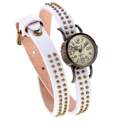 Naiste Lady Vintage kvarts randme Watch needid ringi pronks Wrap rihma käevõru