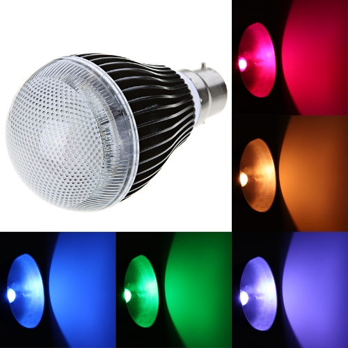 Isunroad B22 9W 420LM LED RGB Light 2 Million Color Changing Voice Music Control High Power Energy Saving Bulb Lamp with IR Remote 110-240V