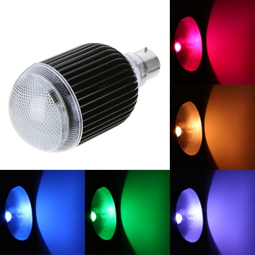 Isunroad B22 10W 650LM LED RGB Light 2 Million Color Changing Voice Music Control High Power Energy Saving Bulb Lamp with IR Remote 110-240V