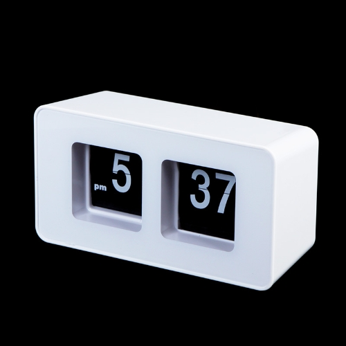 Retro Auto Flip Clock klassisch stilvolle moderne Rezeption Wall Clock weiß