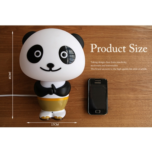 Kung Fu Panda Style LED Intelligent Lights Desk/Table Lamp English Voice Activated Control Alarm Clock