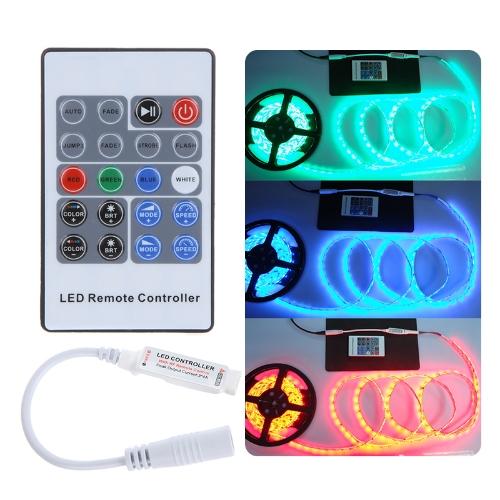 5-24V 20 Key Wireless RF Remote RGB LED Mini Controller ściemniacz dla LED Strip 5050 3528