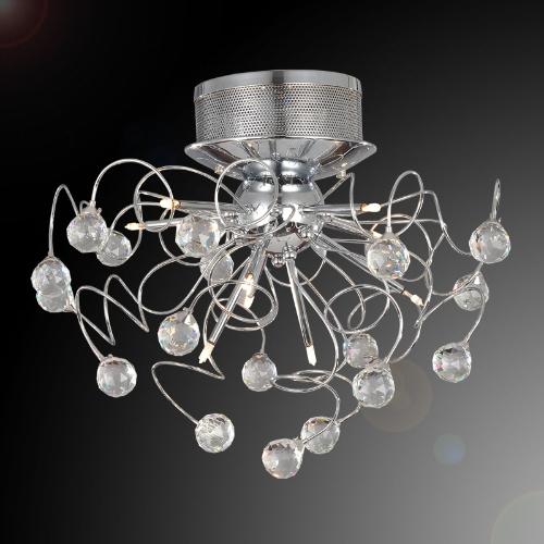 Lustre en cristal moderne avec 9-Light lampe plafond éclairage Chrome 110-120V