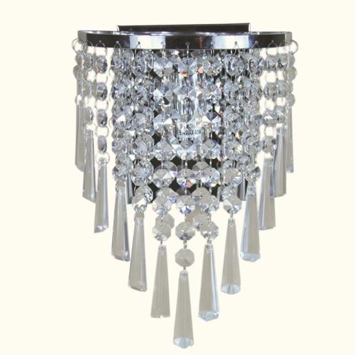 Semi Circular Wall Light Lamp Lighting in Crystal for Living Room Bedroom