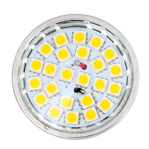 24 SMD 5050 viinud kergete lampide pirn Spotlight 5W GU10 220V-240V energiasäästu soe valge