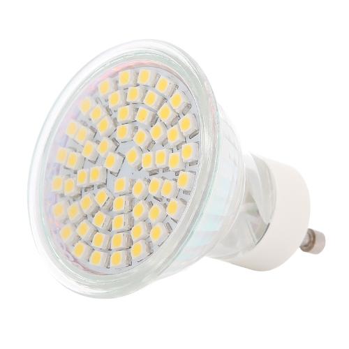 60 SMD 3528 LED luz bombilla foco 4W GU10 220V-240V ahorradoras de energía blanco cálido
