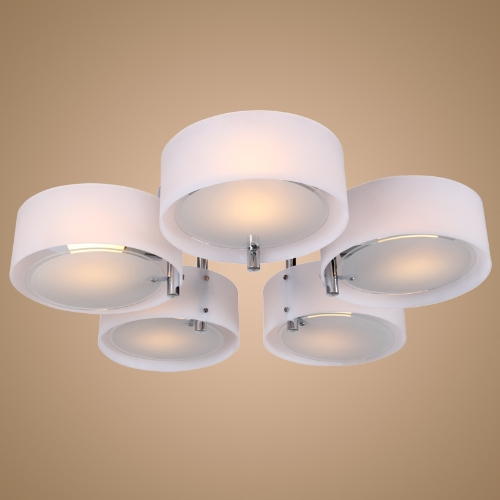 Acrylic Chandelier Lamp Ceiling Lighting with 5 Lights Chrome Finish 220-240V