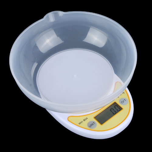 Portable LCD Display Digital Electronic Kitchen Scale 1kg/ 0.1g Food Parcel Weighing Balance with Bowl