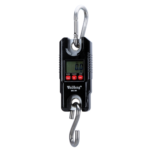 Mini Portable Crane Scale 300kg 0.1kg LCD Display Digital Electronic Hook Hanging Scale with White Backlight