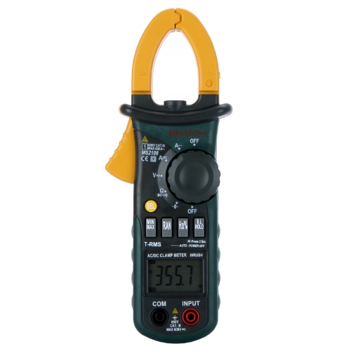 Mastech MS2108 Digital Clamp Meter True-rms Inrush Current 66mF Capacitance Frequency Measurement Carrying Bag