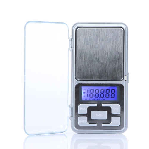 High Accuracy Mini Electronic Digital Pocket Scale Jewelry Weighing Balance Portable 100g/0.01g Counting Function Blue LCD g/tl/oz/ct