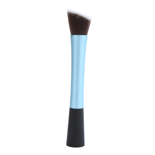 Professionelle Kosmetik Pinsel Gesicht Make-up Rouge Powder Foundation Tool abgewinkelte flache Spitze Blau