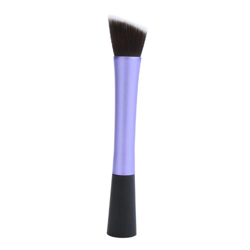 Профессиональные косметические кисти лицо составляют румяна порошок фонд инструмент угловой плоской верхней фиолетовый