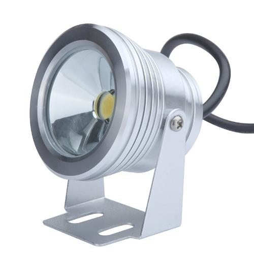 10W 12V LED Flood luz subacuática lámpara IP65 impermeable fuente estanque paisaje iluminación 1000LM blanco lente plana