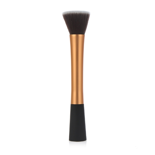 Professional Cosmetic Brush Face Make Up Blusher Powder Foundation Tool Flat Top Gold