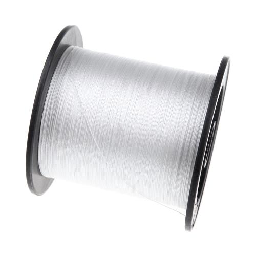 300M 20LB 0.18mm Filo per pesca 4 solidi fili intrecciati Bianco