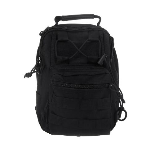 Männer Frauen im Freien Sport Camping Wandern Trekking Bag militärische taktische Umhängetasche schwarz