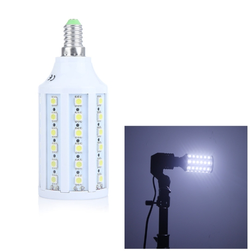 60 5050 SMD LED Corn Bulb Light Lamp E14 1080Lm 360° 10W 220V White Energy-Saving