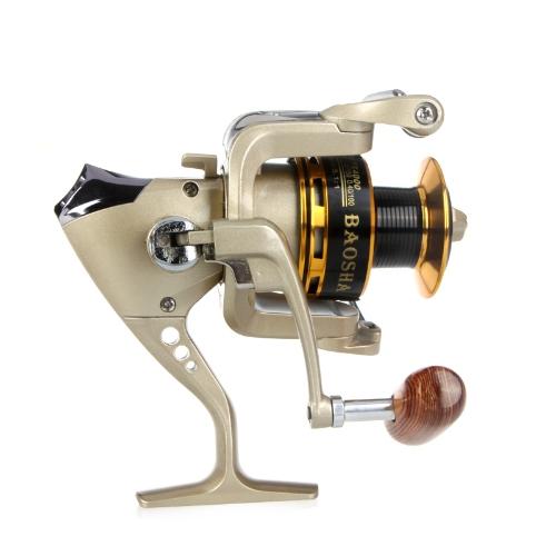 8BB cuscinetti a sfera manico pieghevole intercambiabile sinistra/destra pesca Spinning Reel PX4000 5.1:1 Champagne