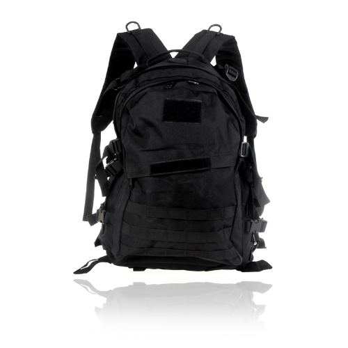 Outdoor Molle Military Tactical Backpack Rucksack Camping Traveling Hiking Trekking Bag 40L Black