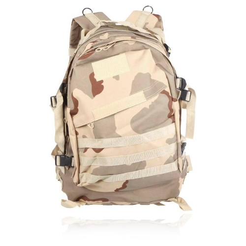 Outdoor Molle Military Tactical Backpack Rucksack Camping Traveling Hiking Trekking Bag 40L Tan Camouflage