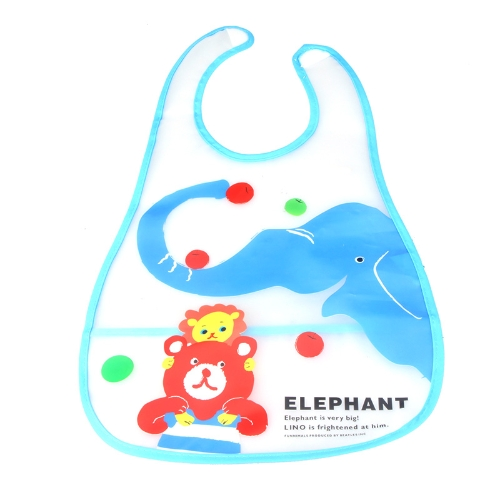 Cute Elephant Baby Bib Infant Saliva Towel Waterproof Unisex with Pouch