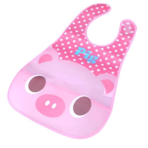 Cerdo lindo bebé babero infantil Saliva toalla impermeable Unisex con bolsa